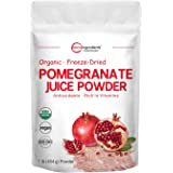 Organic Pomegranate Juice Powder, 1 Pound (91 Serving), Freeze Dried & Cold Pressed, Natural Vitamin C (Immune Vitamin), Supp