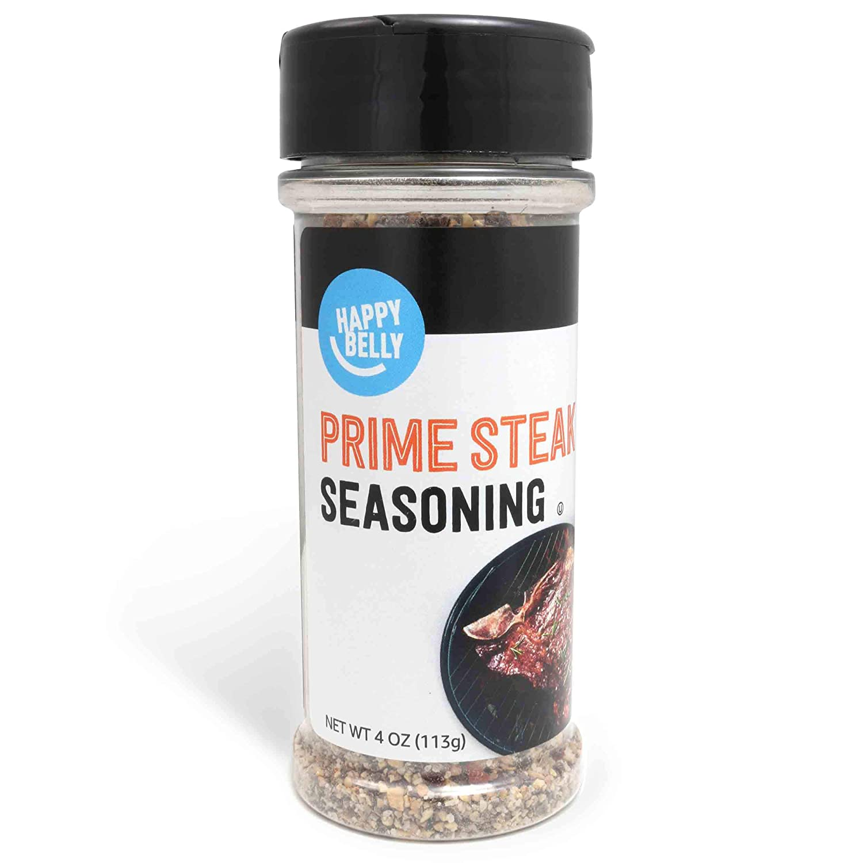 Amazon Brand - Happy Belly Prime Steak Seasoning, 4 Ounces