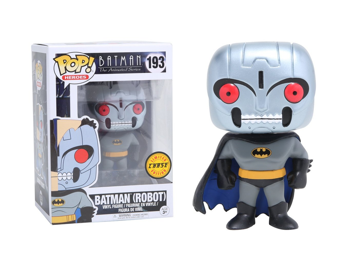 Funko Pop Vinyl Batman The Animated Series Robot Batman Chase Variant Figure