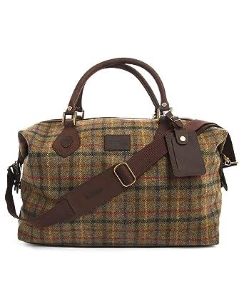 Barbour - Overnight Bags - Men - Tartan Tweed Leather Weekend Bag ...