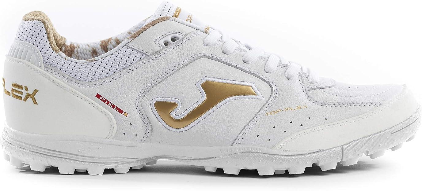 Joma TopFlex - Zapatillas de fútbol blanco/oro 902 Turf Size: 40 EU: Amazon.es: Zapatos y complementos
