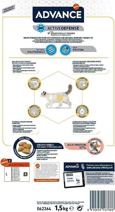 ADVANCE Sensitive Sterilized - Pienso para Gatos ...