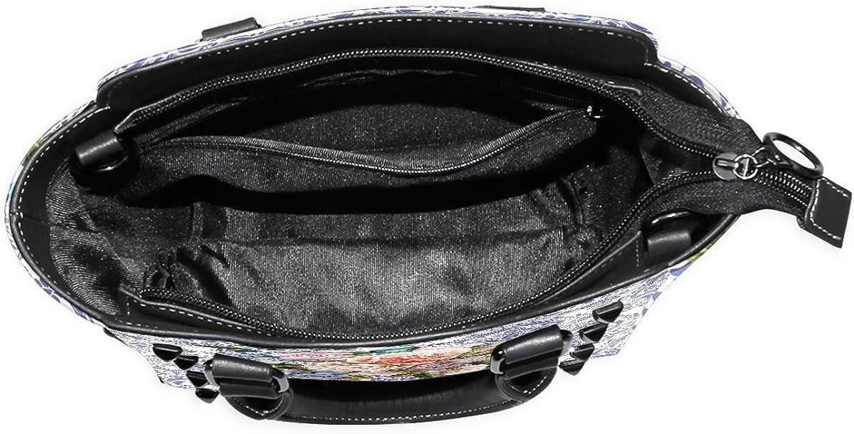 imobaby European Style Rose And Hummingbird PU Leather Girls Top-Handle Handbags Single-Shoulder Ladies Tote Crossbody Bag Messenger Bags For Women
