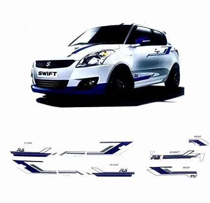 Maruti suzuki swift customise rs car 7 graphics decal vinyl decal body sticker