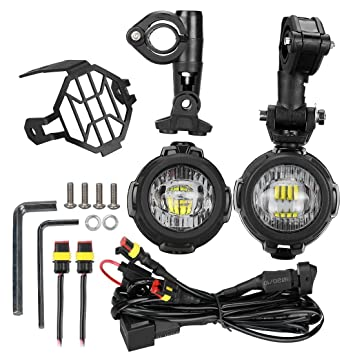 71ZkltfXm0L._SY355_ littou led auxiliary lamp motorcycle fog driving light kits with independent control auxiliary lamp wire harness kit instructions at gsmx.co