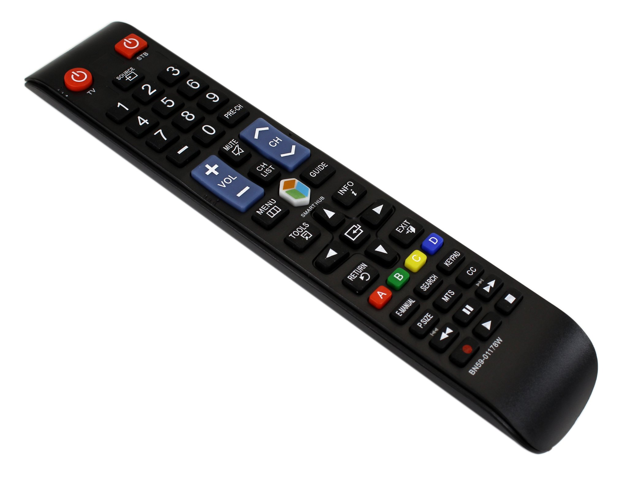 RMTECH BN59-01178W Universal Remote Control Replacement for Samsung LED LCD Smart TV