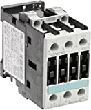 Siemens 3RT10 26-1AK60 Motor Contactor, 3 Poles, Screw Terminals, S0 Frame Size, 120V at 60Hz and 110V at 50Hz AC Coil Voltage Voltage