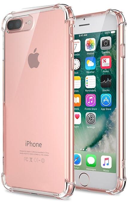 3 opinioni per Cover iPhone 7 Plus, Pasonomi [Assorbimento-Urto] [Ultra Clear] Cristallo Chiaro
