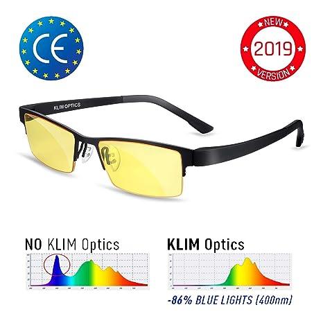 1a9c84401bcc KLIM Optics - Blue Light Blocking Glasses - Reduce Eye Strain and Fatigue -  Blue Blocker