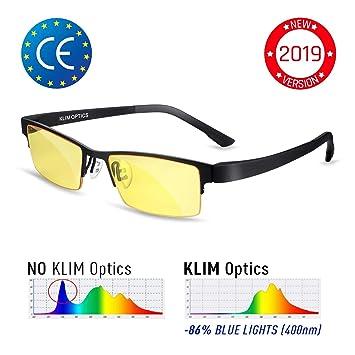 eaa682a58b KLIM Optics - Gafas para Bloquear la Luz Azul - Nuevas: Amazon.es:  Electrónica