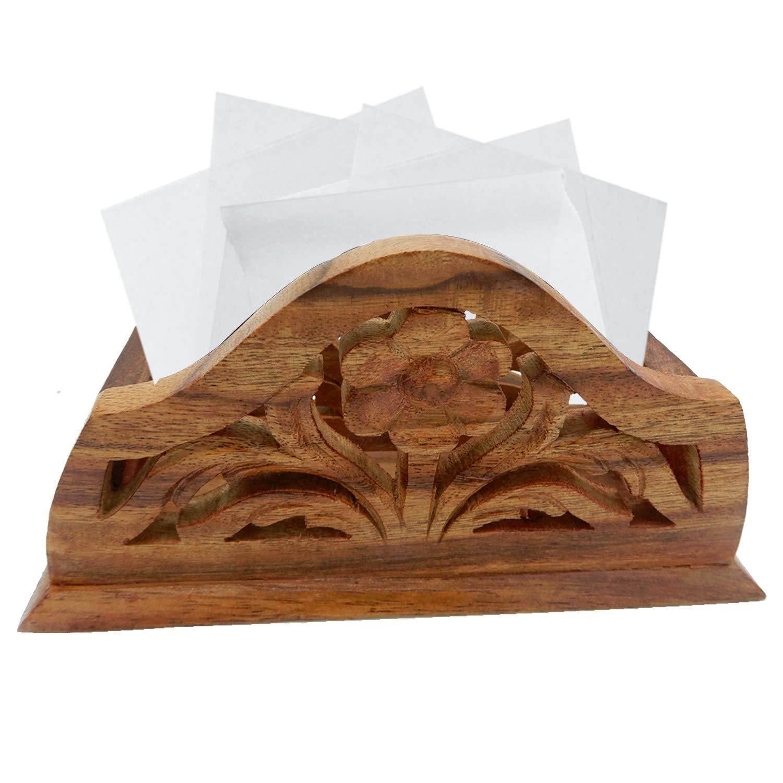 クリスマスまたはThanks Giving Dayギフト、木製ナプキンスタンドChilai作業スタンド、木製ナプキンホルダー、テーブルデスクオーガナイザー – ハンドメイド6.5