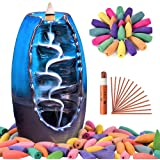 Sweet Alice Incense Burner, Ceramic Backflow Incense Holder, Home Decor Aromatherapy Ornament, with 150 pcs Incense…
