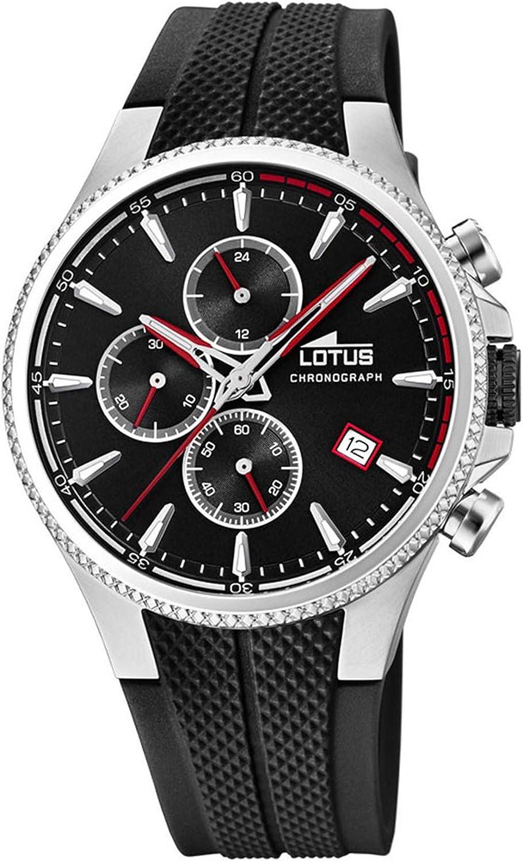 Lotus 18621/2 - Reloj Cronógrafo para Hombre, de Cuarzo con Correa en Caucho