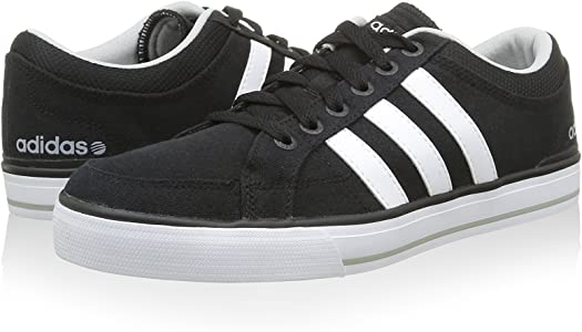 Amazon.com   adidas - Bbneo Skool LO - F38452 - Color: White-Black ...
