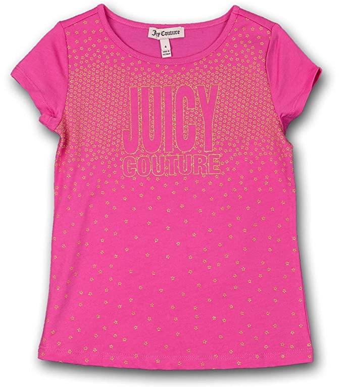 9ae0885e6122 Amazon.com  Juicy Couture Kids Girl s Star Embellished T-Shirt 2T Pink   Clothing