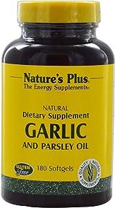 NaturesPlus Garlic & Parsley - Naturally Promotes Healthy Cholesterol & Blood Pressure Levels - 180 Softgels (180 Servings)