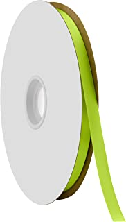 """product image for Offray Berwick 3/8"""" Single Face Satin Ribbon, New Chartreuse Green, 100 Yds"""