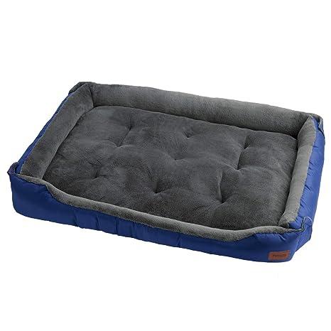 Petsure Cama para Perros Pequeños 60x40x16cm S, Azul - Sofá ...