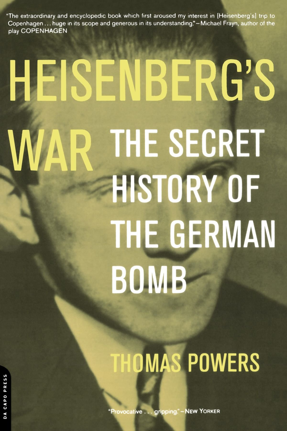 German customer account create/downloader - Heisenberg S War The Secret History Of The German Bomb Thomas Powers 9780306810114 Amazon Com Books