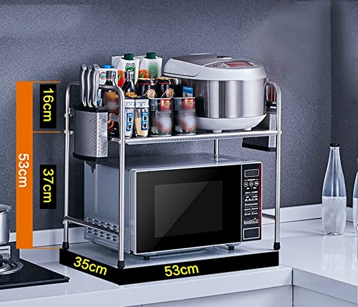 304 Acero inoxidable Cocina estante microondas horno estantes ...