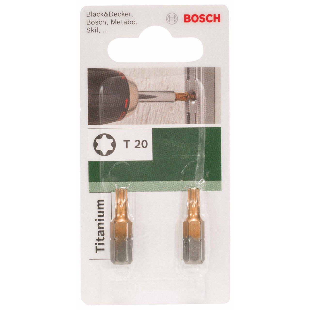 Bosch 2609255942 Foret Torx T20 25 mm Titane