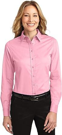 Port Authority - Camiseta de manga larga para mujer, fácil ...