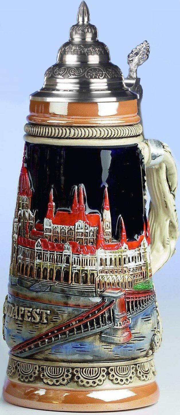 Budapest Hungary Parliament Building LE Germany Beer Stein .25 L Made in Germany
