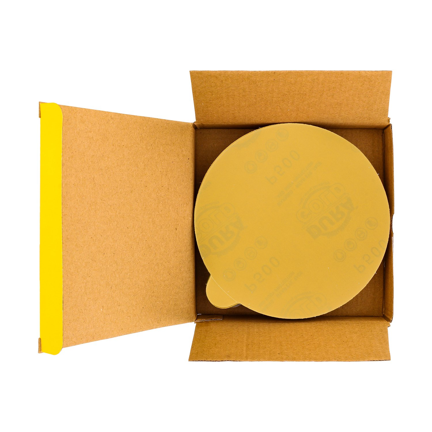 Premium Film Back Dura-Gold PSA Self Adhesive Stickyback Sanding Discs for DA Sanders Box of 25 Sandpaper Finishing Discs for Automotive and Woodworking 180 Grit 6 Green Film