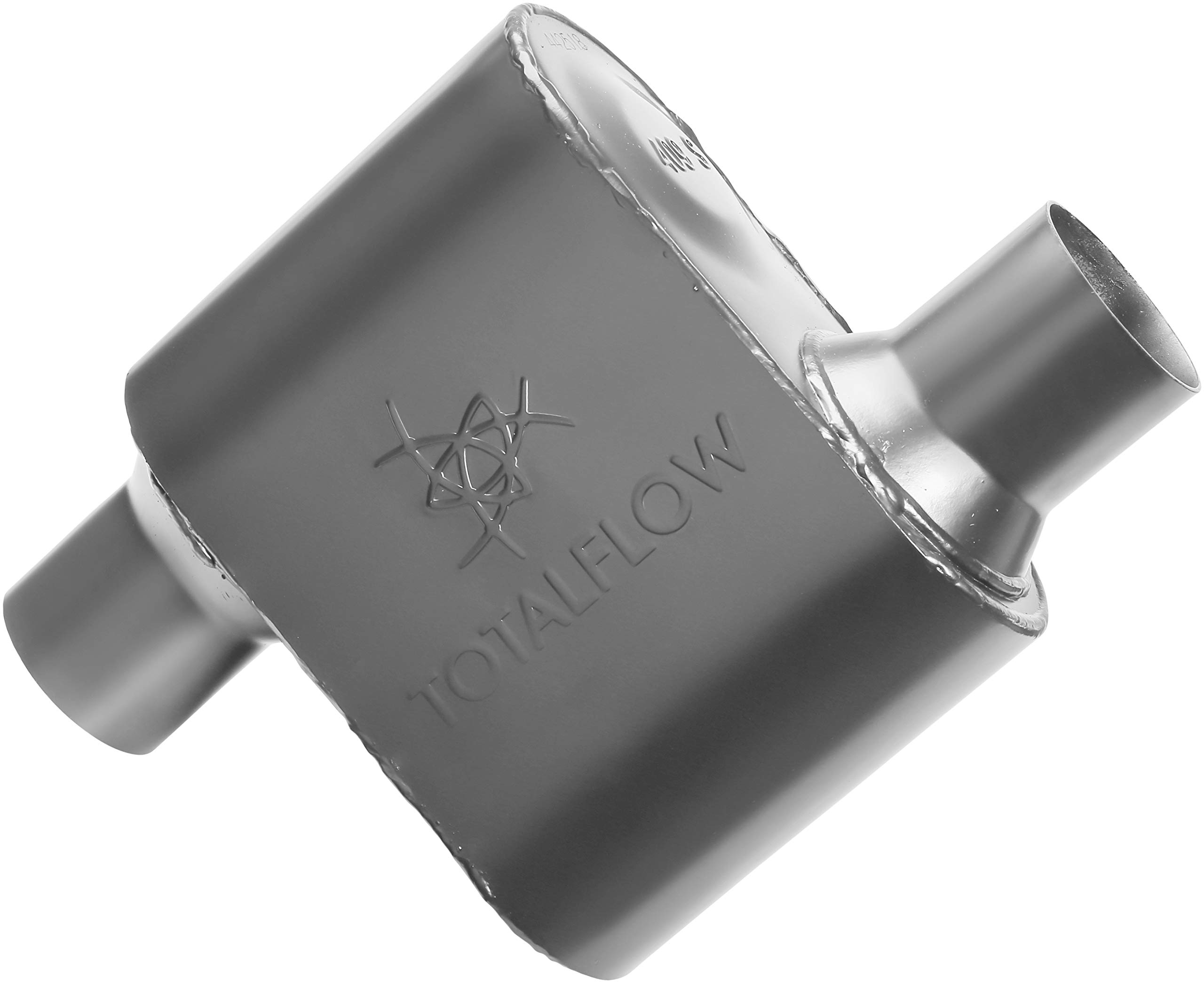 TOTALFLOW 442518 Single Chamber Universal 2.5'' Muffler - 2.5'' Offset IN / 2.5'' Offset OUT