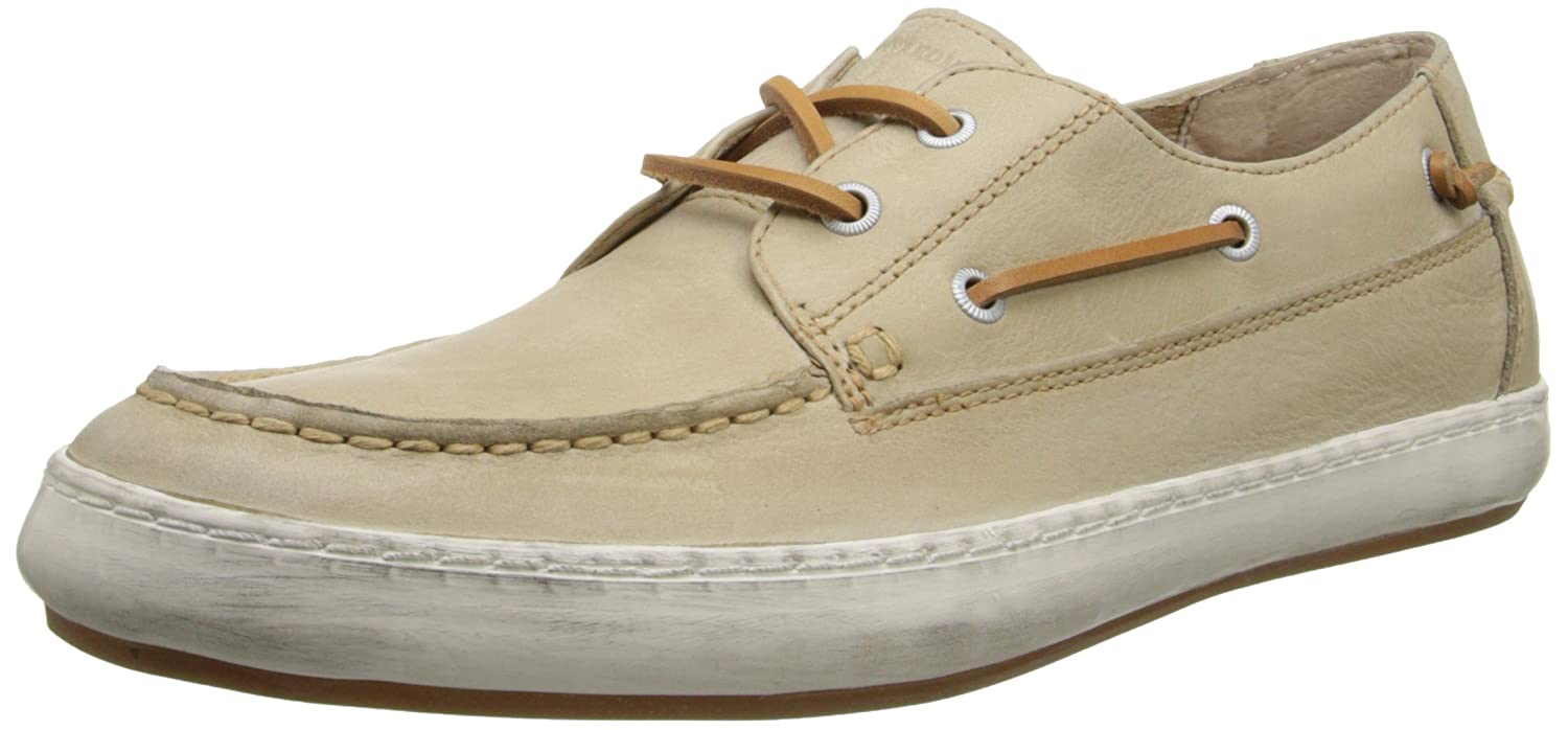 Mens Norfolk MOC Boat Shoe, Cement, 9.5 M US Frye