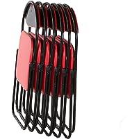 Klappstühle xer Set gepolstert - Gästestuhl Camping Küchen Stuhl Metall schwarz