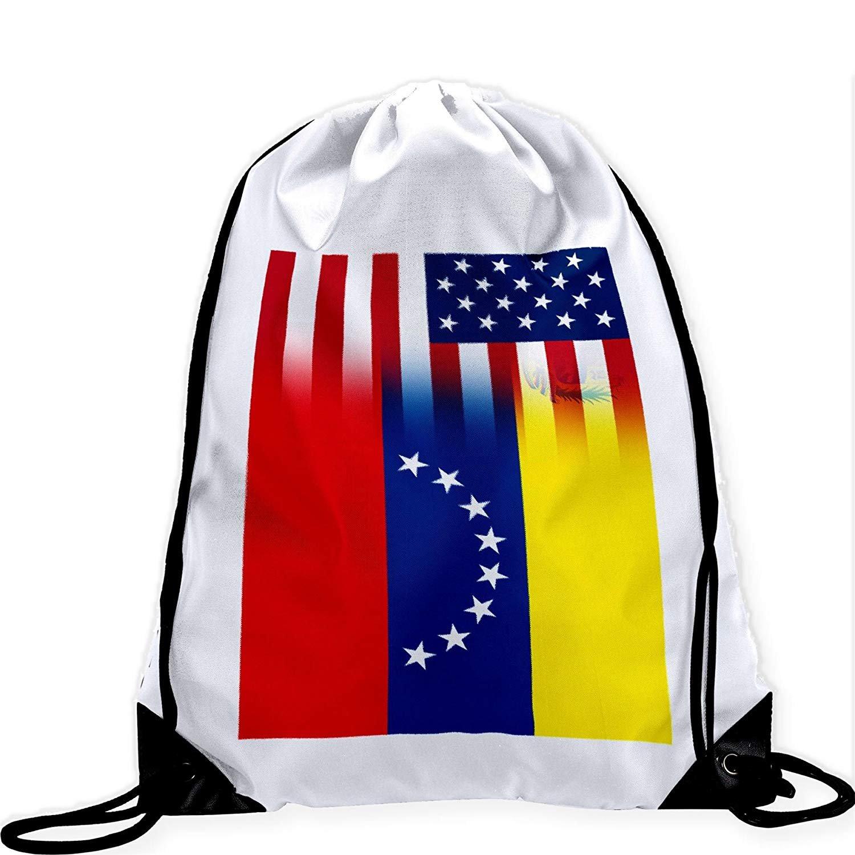 Large Drawstring Bag with Flag of Venezuela - Many Designs - Long lasting vibrant image