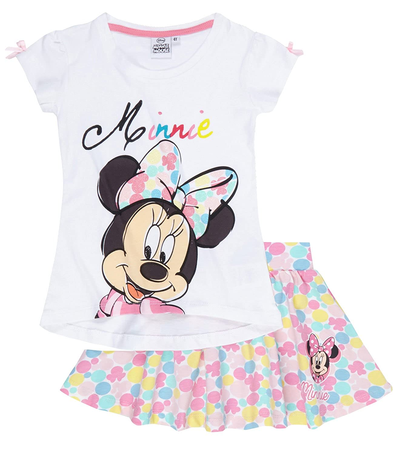 Disney Minnie Girls T-shirt and skirt 2016 Collection - white