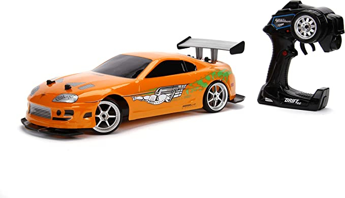 Amazon Com Jada Toys Fast Furious 1 10 Toyota Supra Remote Control Car Drift Slide Rc With Extra Tires 2 4ghz Toys For Kids And Adults Toys Games