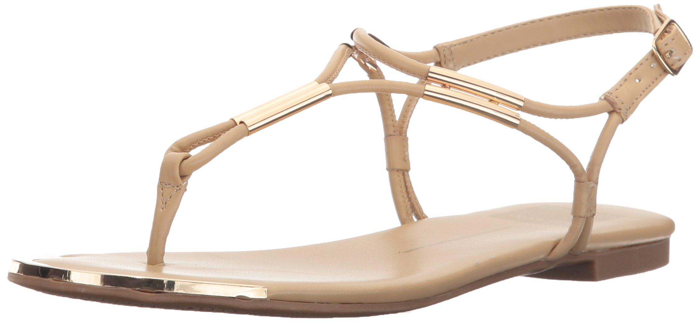 Dolce Vita Women's Marly Flat Sandal,Nude,7.5 B(M) US