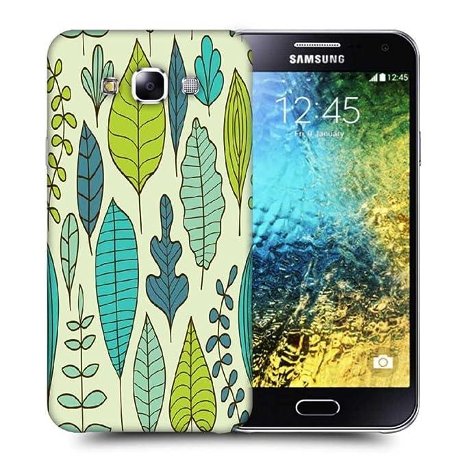 b0126fee8e6 Snoogg Abstracto hojas funda carcasa back case cover para Samsung Galaxy E5