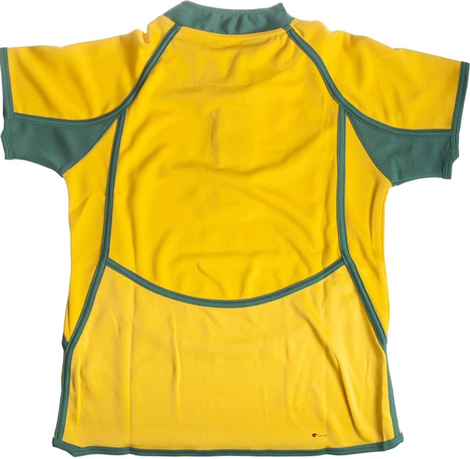Kids Cool Dry Style Rugby Shirt in Australia Colours Size 5-6 Years