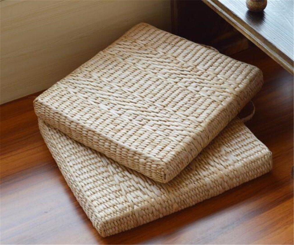 MIRUIKE Rattan Futon Cushion Thickened Square Yoga Mat Floor Cushion Chair Mat