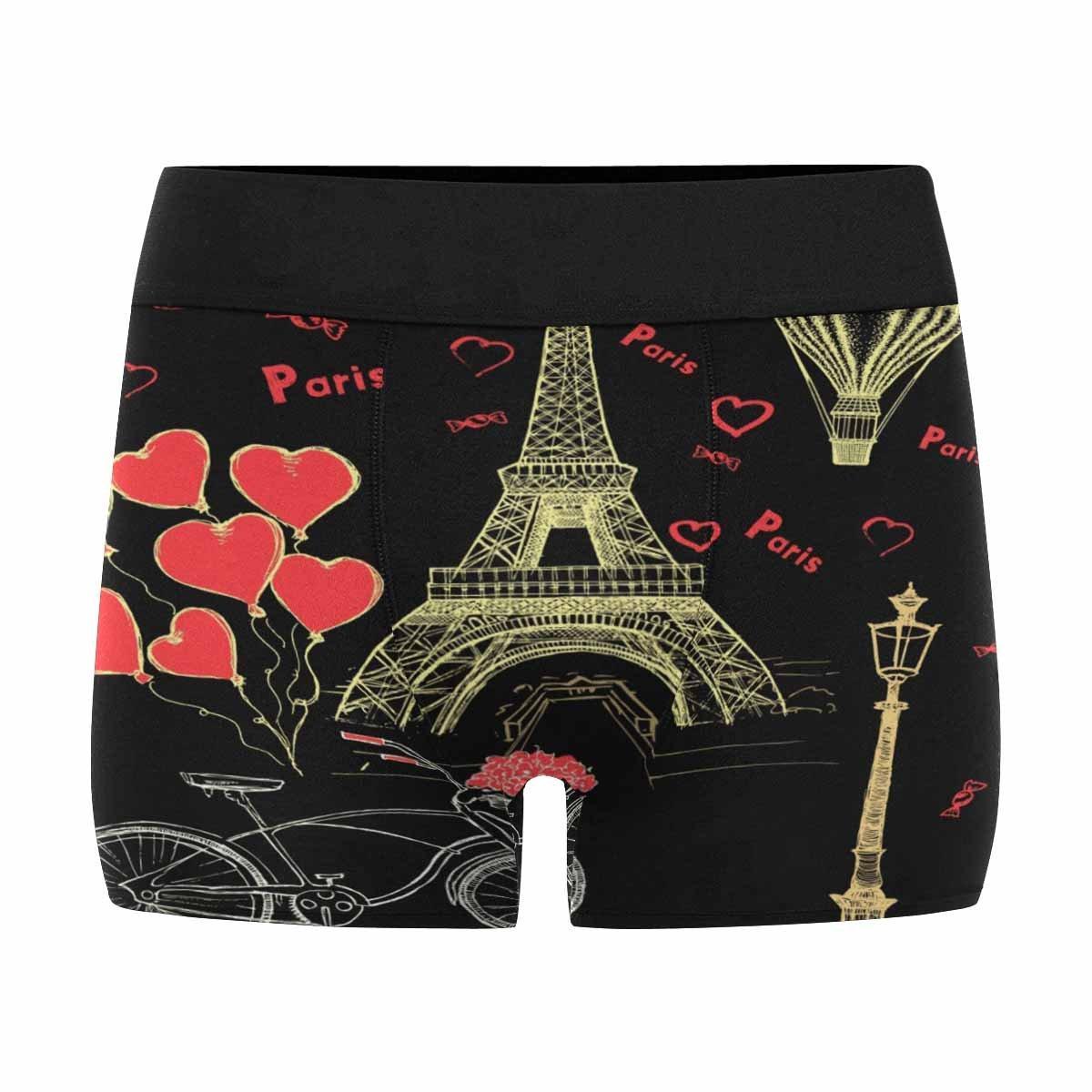 Paris Sketch INTERESTPRINT Mens Boxer Briefs Underwear French Icons XS-3XL