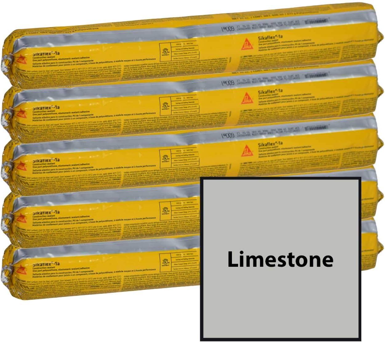 Black Sikaflex 1a Flexible Non Sag High Performance Polyurethane Concrete Masonry Sealant for Vertical and Horizontal Surfaces 5 20oz Tubes Quarter Case