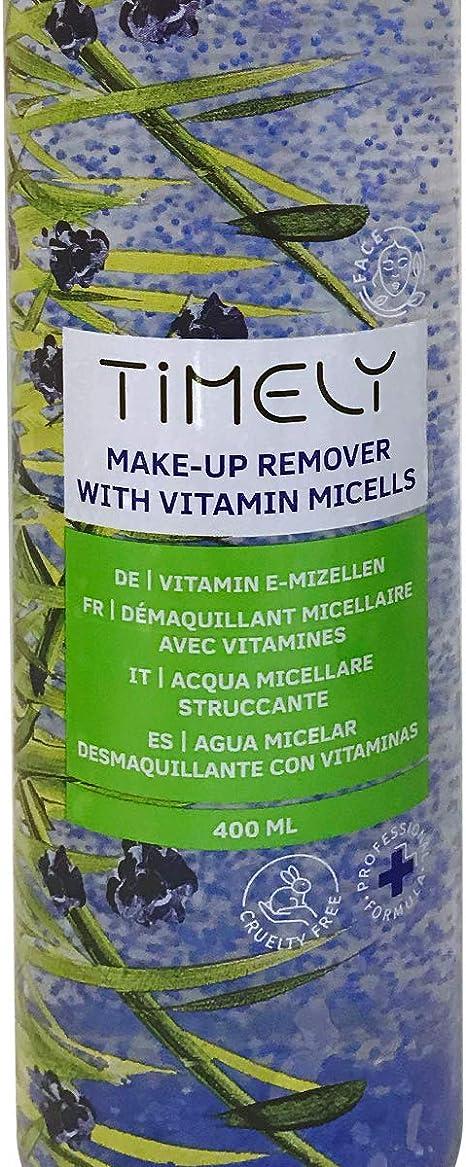 Timely - Desmaquillador con micelas de vitaminas para el cuidado diario, 400 ml