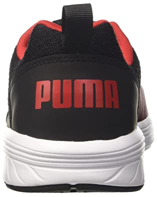 Puma Unisex s Nrgy Comet Black-High Risk Red Running Shoes  Buy Online at  Low Prices in India - Amazon.in 52567b04f