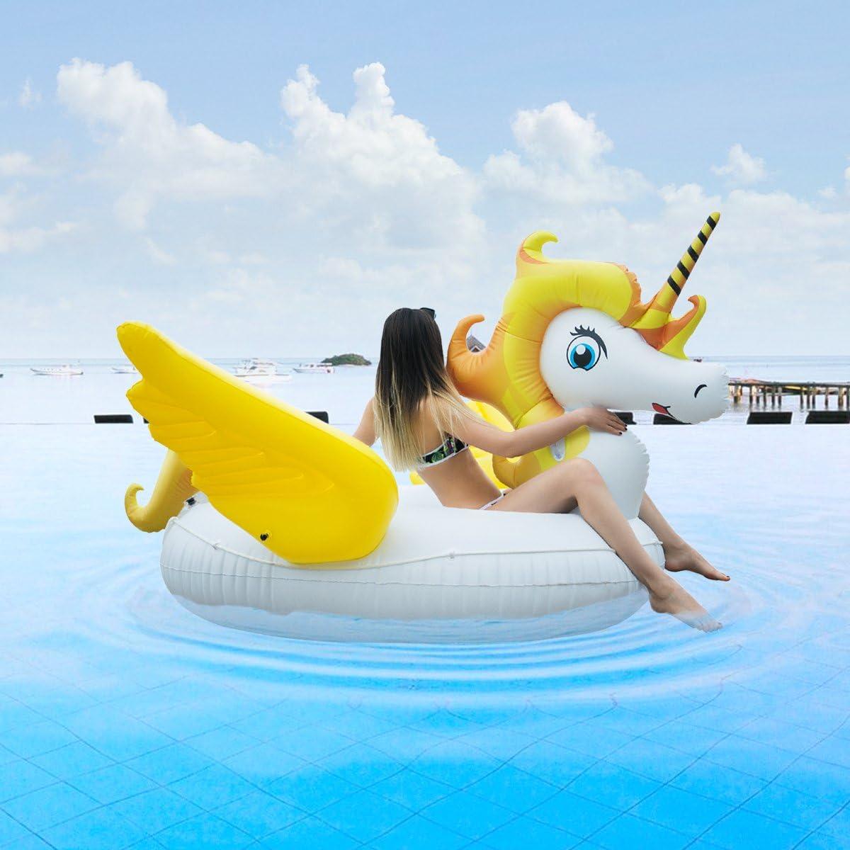 221 cm per piscina e relax HooYL unicorno gigante gonfiabile giocattolo per adulti e bambini