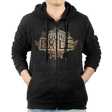 Amazon com: Path Of Exile Game Logo Mens' Cotton Full Zip Hoodie