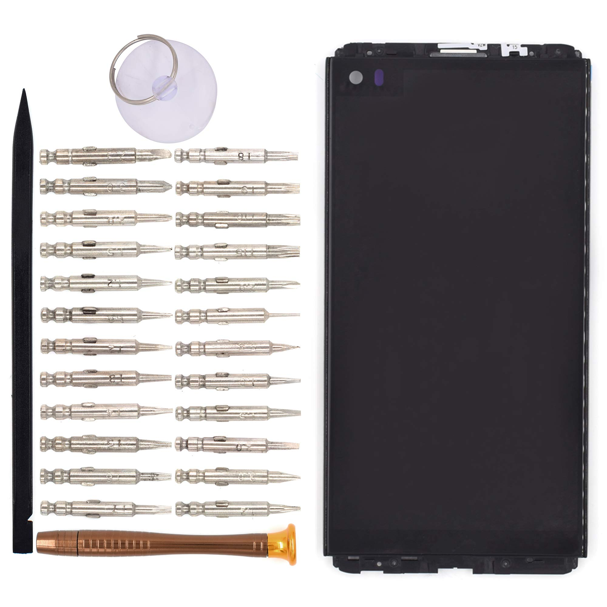 LCD Digitizer Assembly with Front Housing for LG V20 H910 LS997 US996 VS995 H990N H990DS H990T H918(Black)