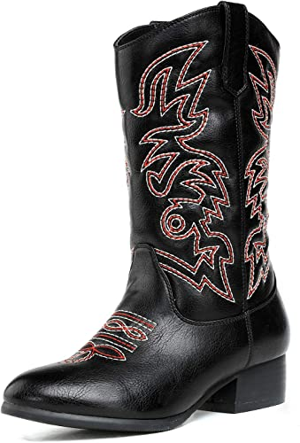Girls Pull On Western Cowboy Boot