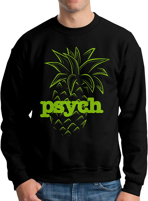 JOROSEEShirley Psych Pineapple Mans Fleece Crewneck Hoodie Hoodies Sweatshirt