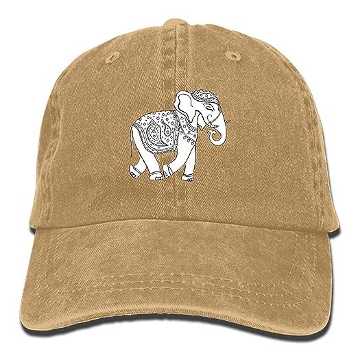 85d324d4be0 Custom Elephant-Indian-Style Classic Cotton Adjustable Baseball Cap ...