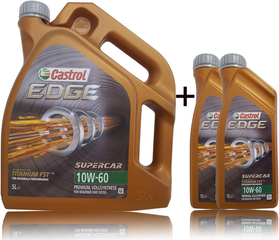 Castrol Edge Motoröl Öl Supercar Titanium 10w60 A3 B3 A3 B4 Sn Cf 7l 7 Liter Auto