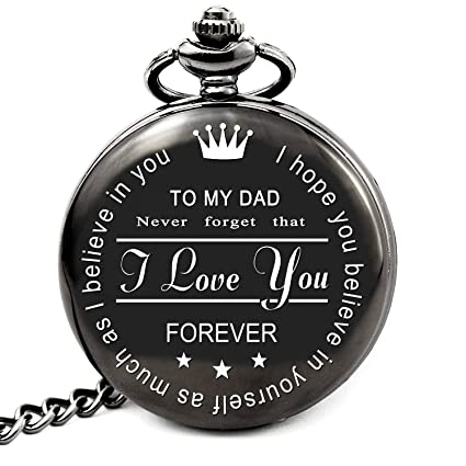 Amazon LEVONTA Dad Birthday Gifts From Daughter Or Son Unique Pocket Watch For Christmas Fathers Day Daddy Gift Ideas Kids Roman Home